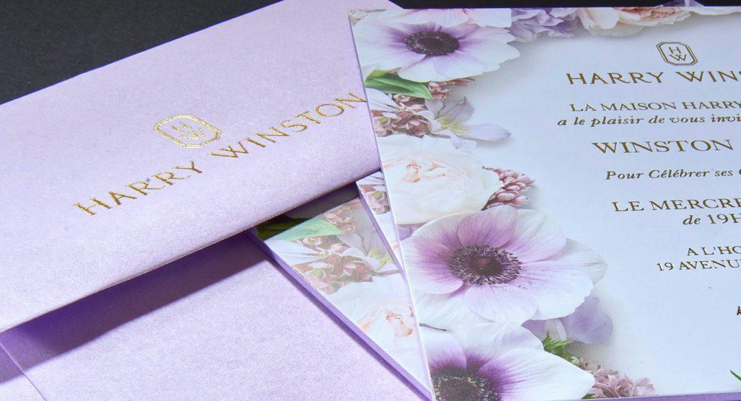 Carton d'invitation Harry Winston